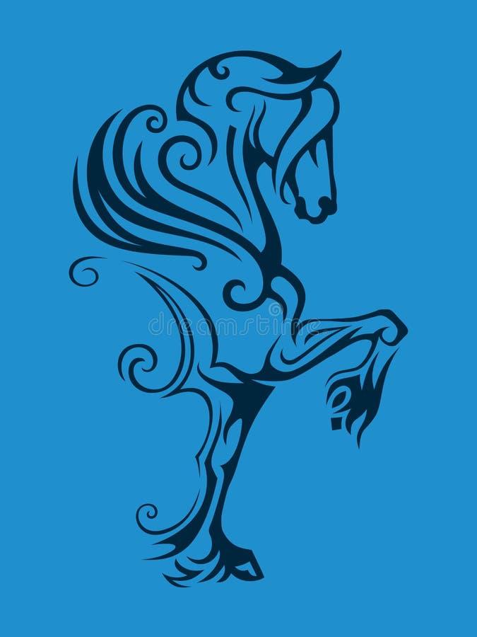 Pegasus ha traversato il cavallo volando illustrazione di stock