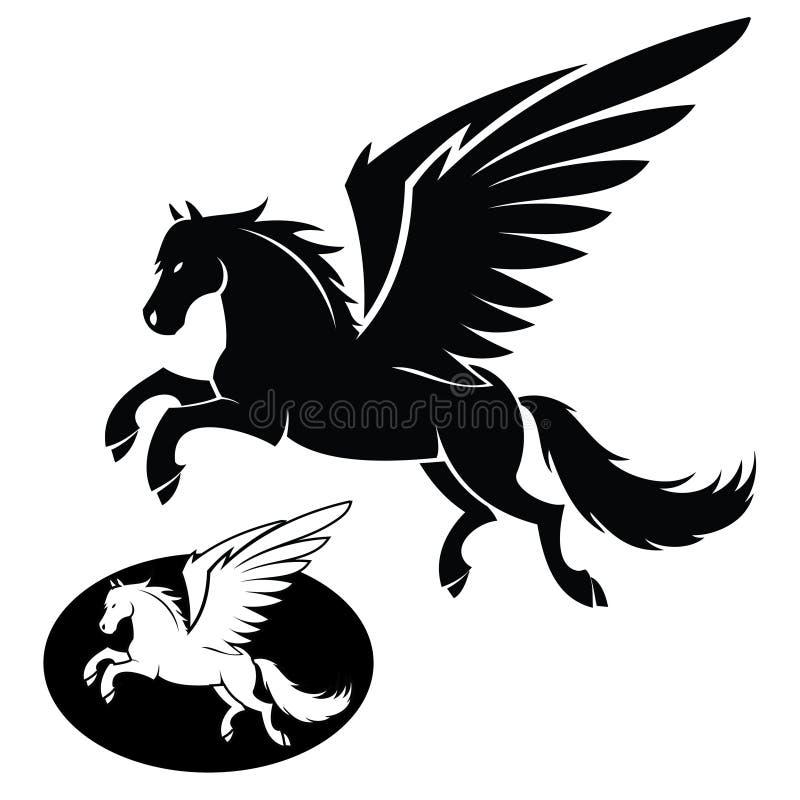 Pegasus isolado ilustração royalty free