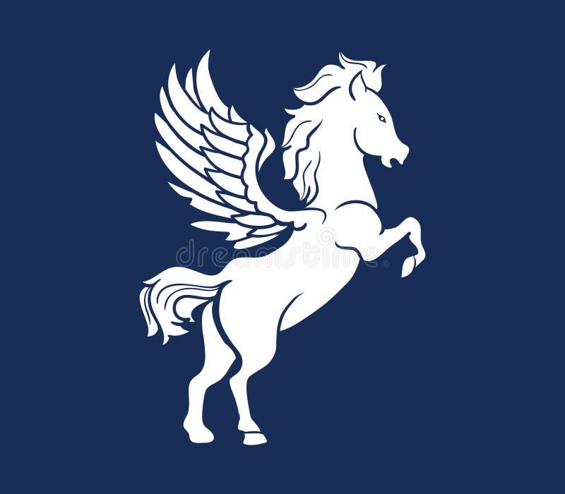 Pegasus kontur royaltyfri illustrationer