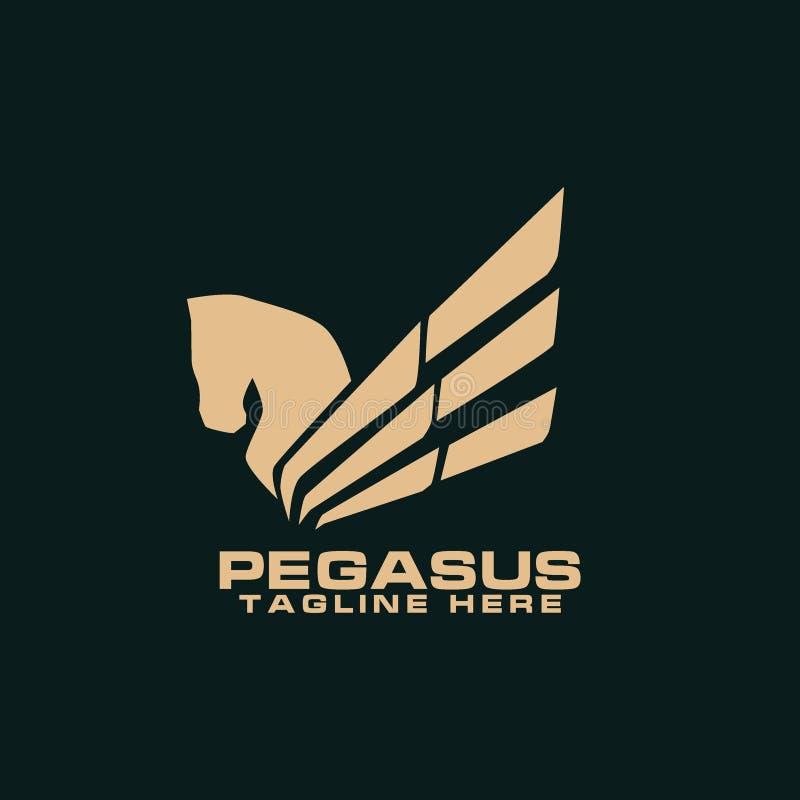 Pegasus Logo Vetora Art Logo Template e ilustração ilustração stock