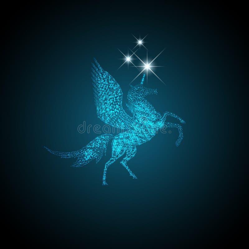 Pegasus mágico ilustração stock