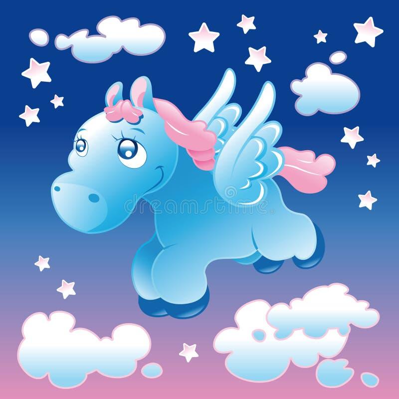 Pegasus pequeno ilustração do vetor