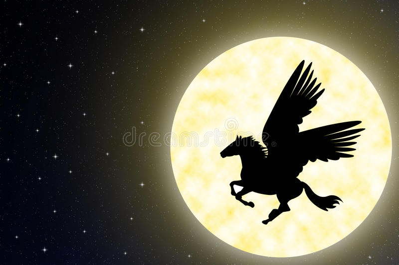 Pegasus. stock illustration