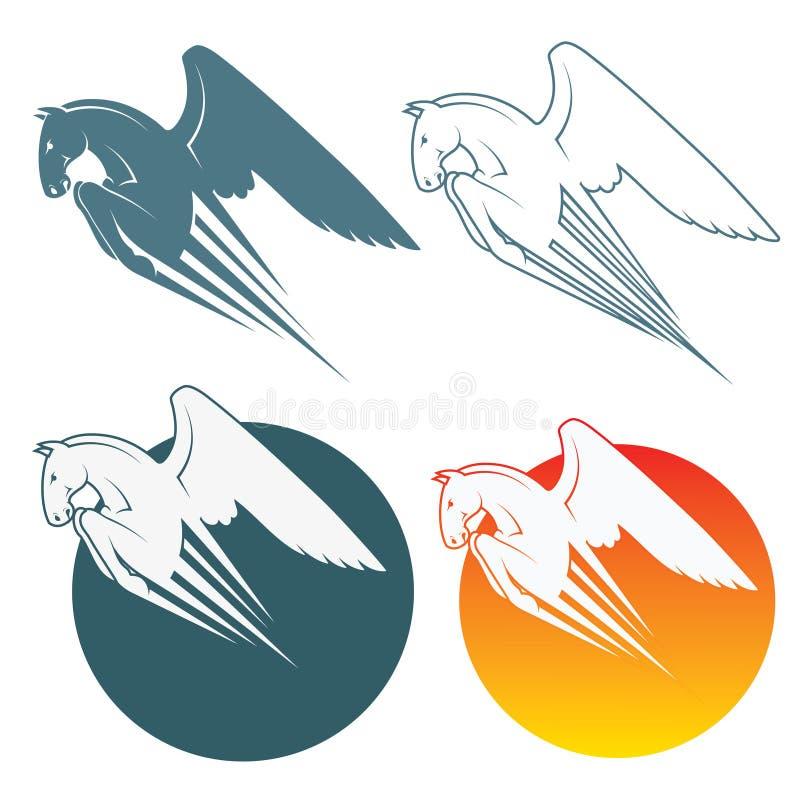 Download Pegasus symbol stock vector. Image of mare, power, posture - 28319284