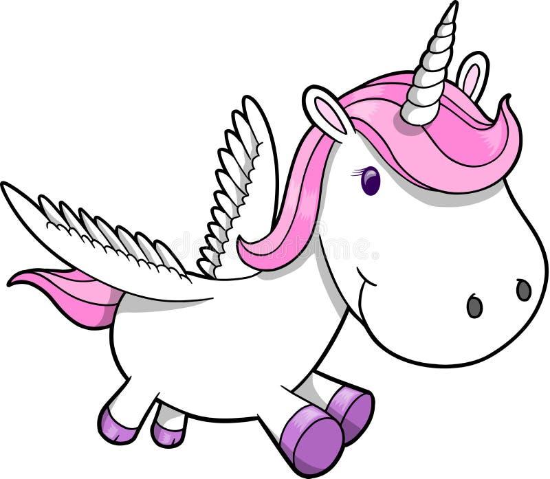pegasus unicorn stock illustrationer