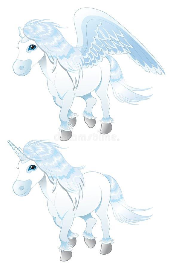 pegasus unicorn royaltyfri illustrationer