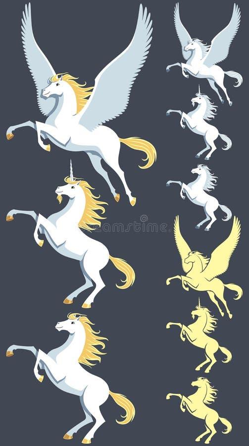 Pegasus Unicorn Stallion illustration de vecteur