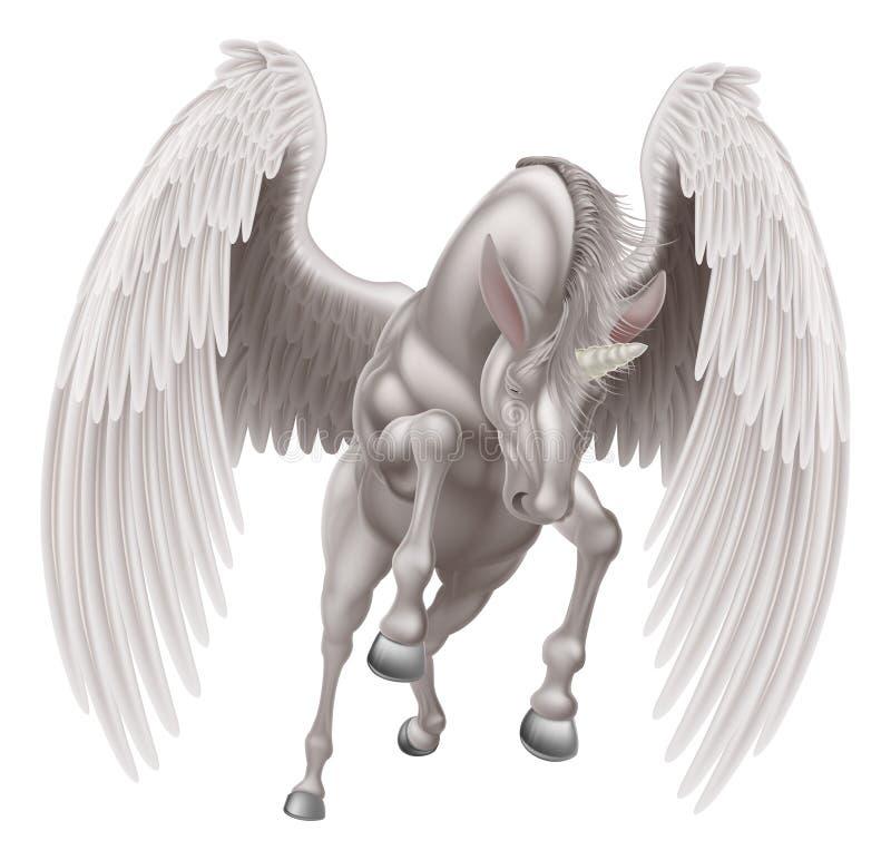 Pegasus Unicorn Winged Horned Horse royalty free illustration