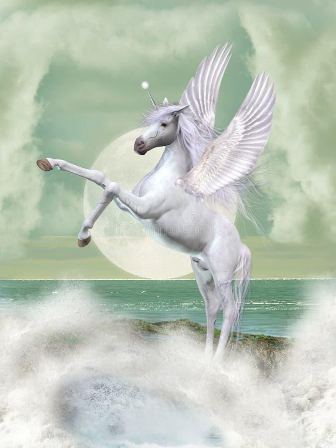 Pegasus van de fantasie royalty-vrije illustratie