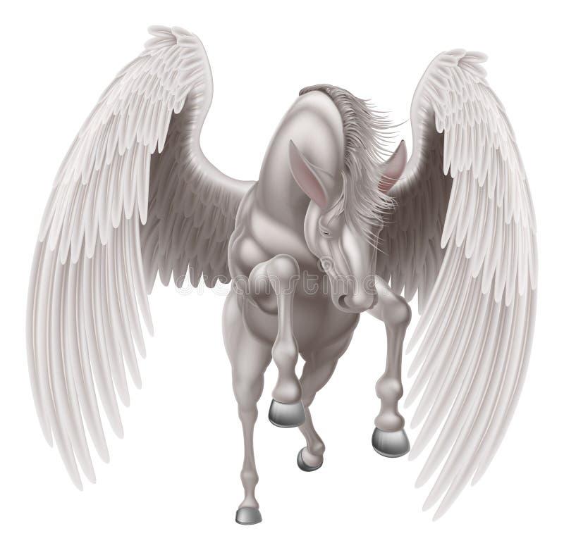 Pegasus voou o cavalo ilustração royalty free