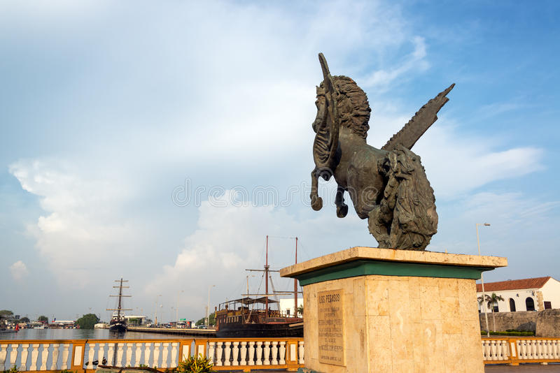 Pegasus Wharf in Cartagena, Colombia stock photography