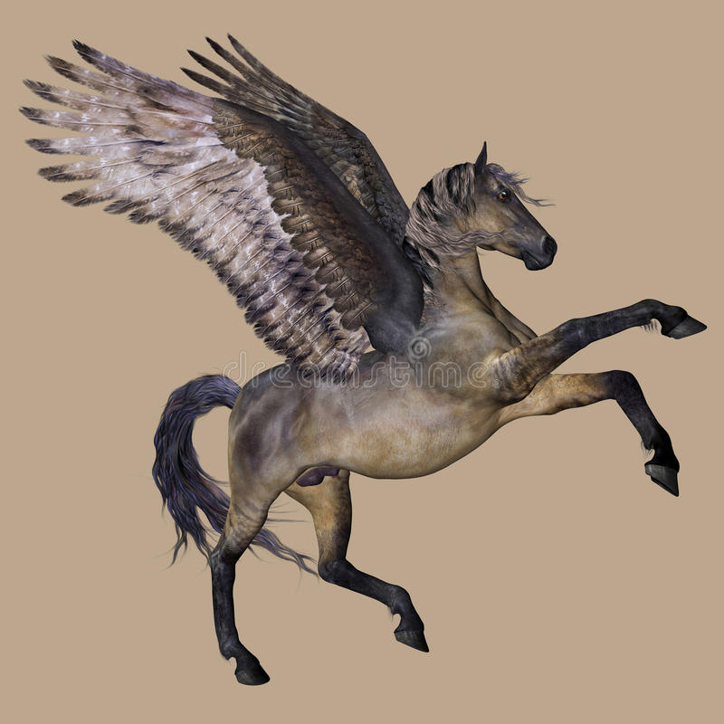 Download Pegasus the winged horse stock illustration. Image of against - 15643617