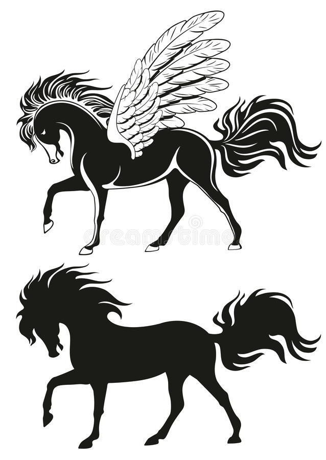 Download Pegasus winged Horse stock vector. Illustration of fantasy - 21298875