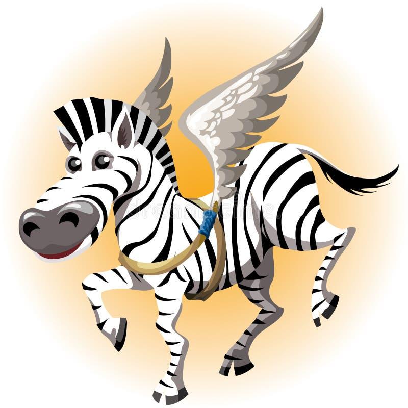 Pegasus zebra ilustracja wektor