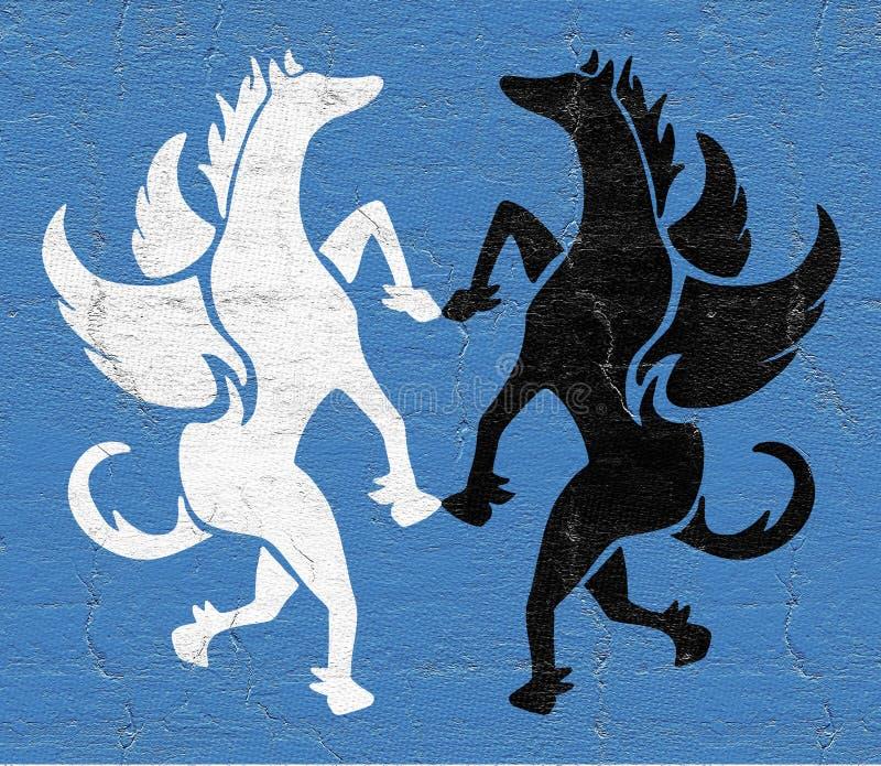 Pegasuspictogram stock illustratie