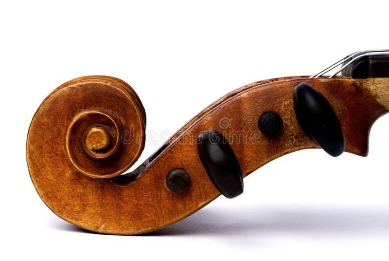 pegbox滚动小提琴 库存图片
