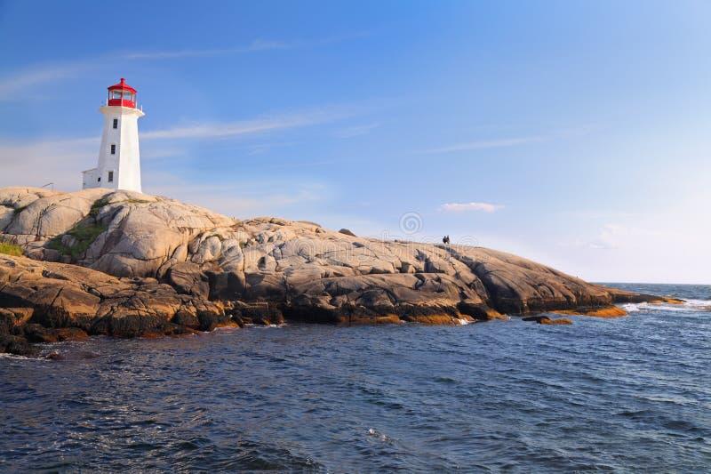 Peggy Cove Lighthouse, Nova Scotia, Canadá imagens de stock royalty free