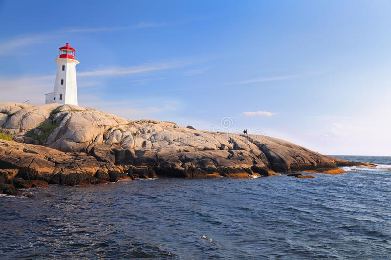 Peggy Cove Lighthouse, Nova Scotia, Canada royalty free stock images