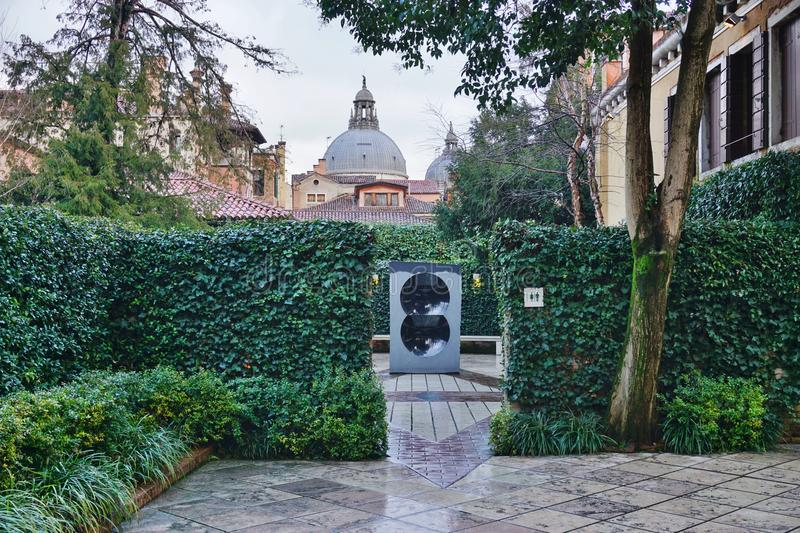 The Peggy Guggenheim Collection museum in Venice royalty free stock photo