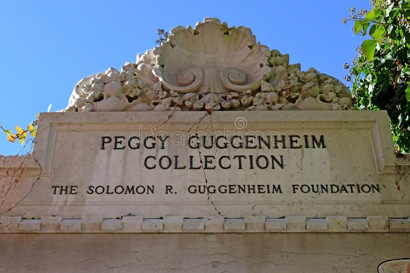 Peggy Guggenheim Collection in Venice stock images