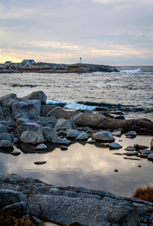 Peggy's Cove Dawn Vertical II stock image