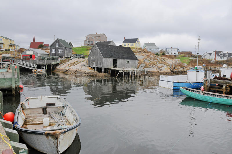 Peggy's Cove famous sea side town near to Halifax royalty free stock photos