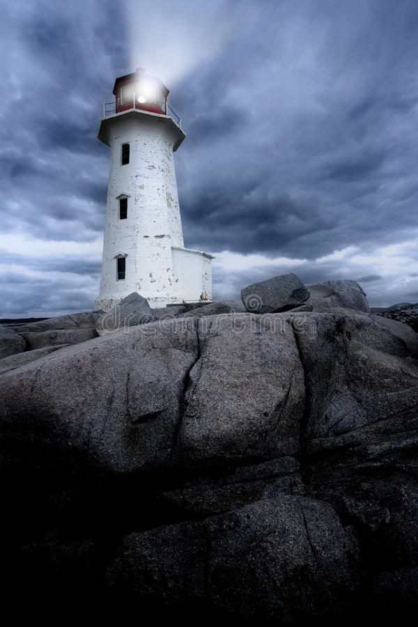 Peggy's Cove lighthouse royalty free stock image