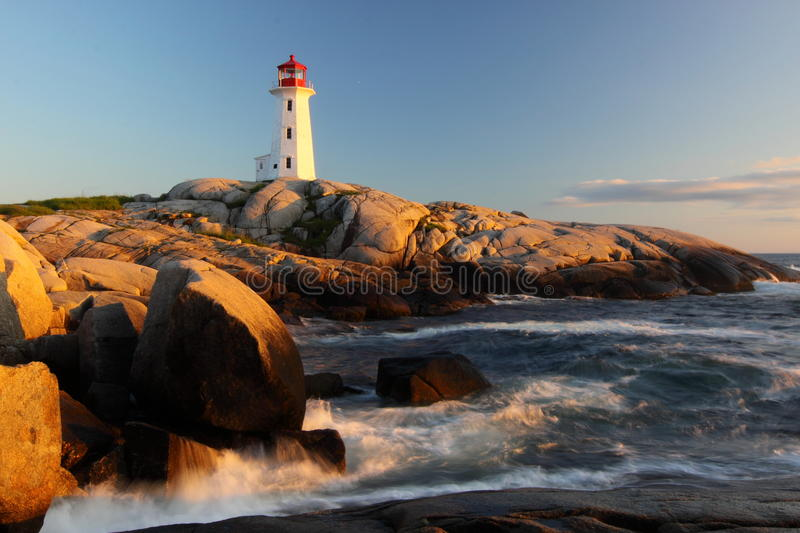 Peggy's Cove Lighthouse stock photography