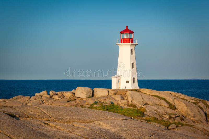 Peggy`s Cove Lighthouse royalty free stock photos