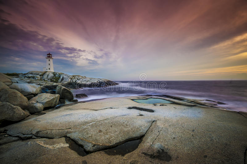 Download Peggy's Cove stock photo. Image of sunset, light, maritime - 34401958