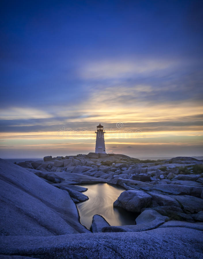 Download Peggy's Cove stock image. Image of ocean, sunset, trail - 34402057