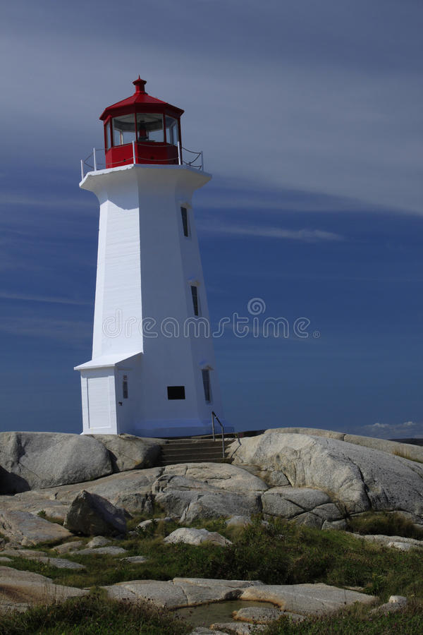 Download Peggys Cove Lighthouse stock image. Image of tourists - 27652319