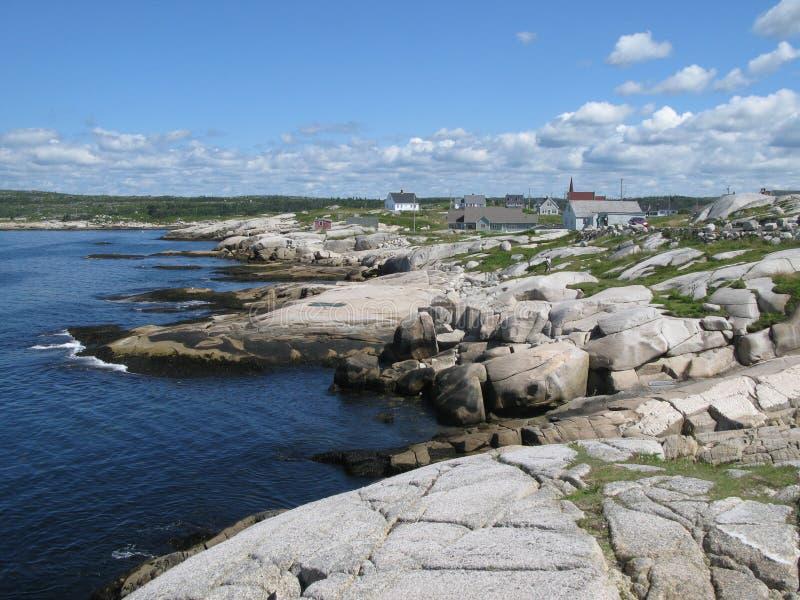 Peggys liten vik Nova Scotia royaltyfri bild