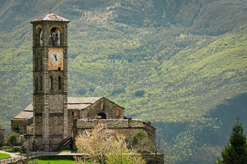 Peglio (Lago di Como) Chiesa di S Eusebio imagen de archivo libre de regalías