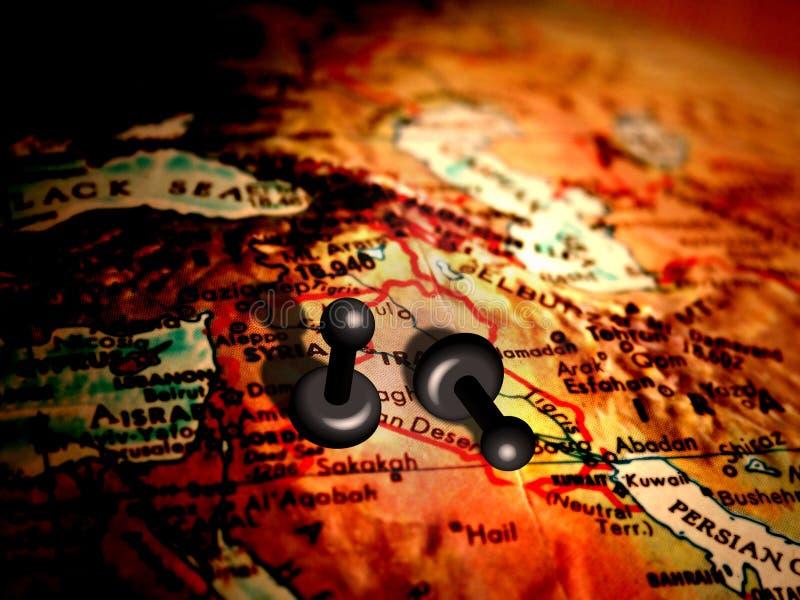 Pegni in Medio Oriente illustrazione di stock