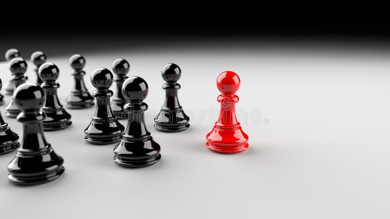 Pegno rosso di scacchi fotografia stock libera da diritti