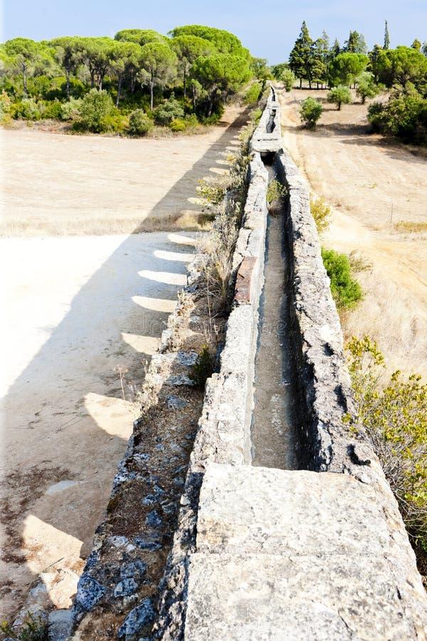 Pegoes渡槽,Estremadura,葡萄牙 库存照片