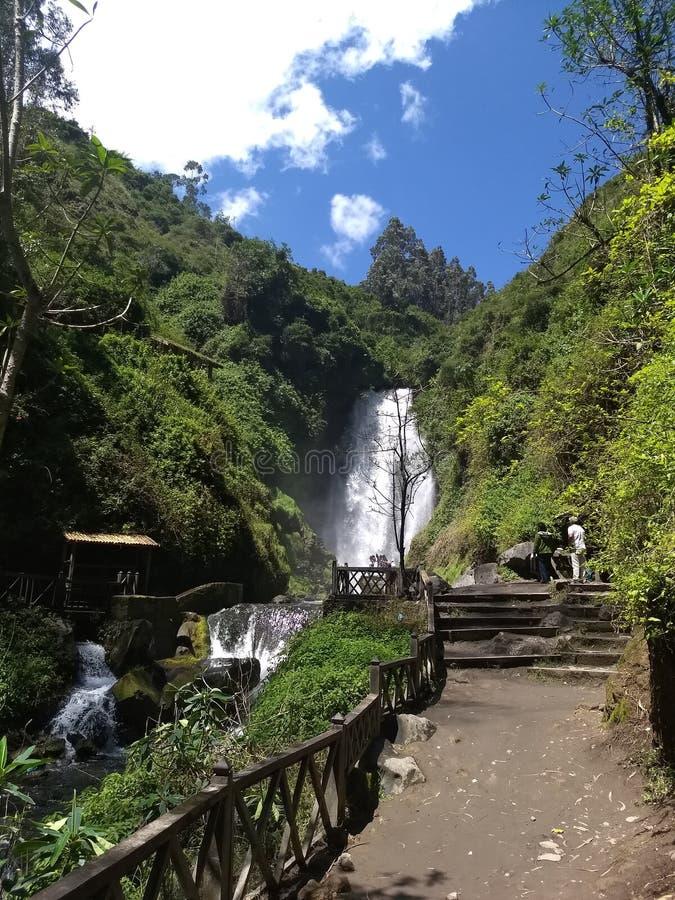 Peguche`s Waterfall royalty free stock photos