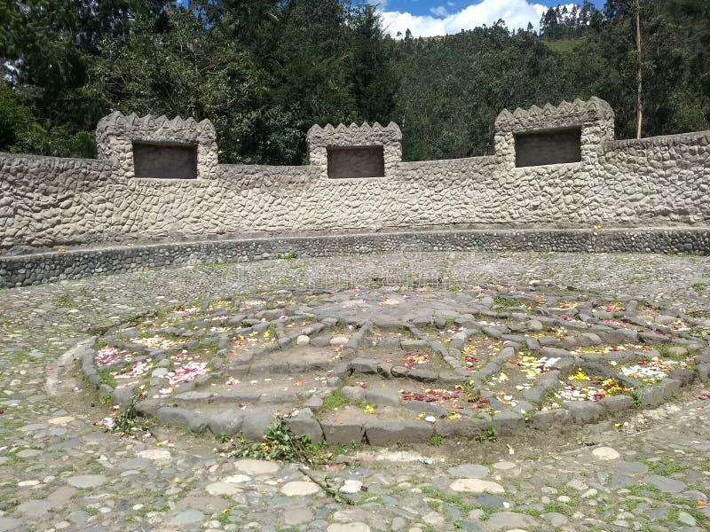 Peguche släkt- tempel royaltyfri bild