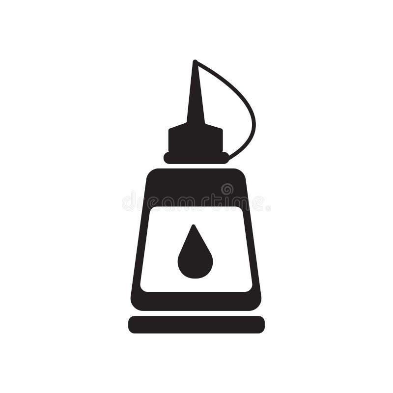 Pegue la muestra y el símbolo del vector del icono de la botella aislados en el backgr blanco ilustración del vector