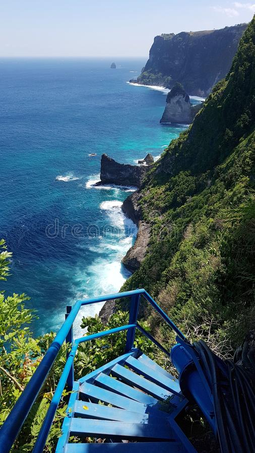 Peguyangan Waterfall - Nusa Penida. Magnificent Nusa Penida stock photography