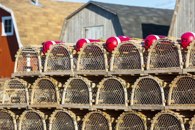PEI Lobster Traps fotos de archivo