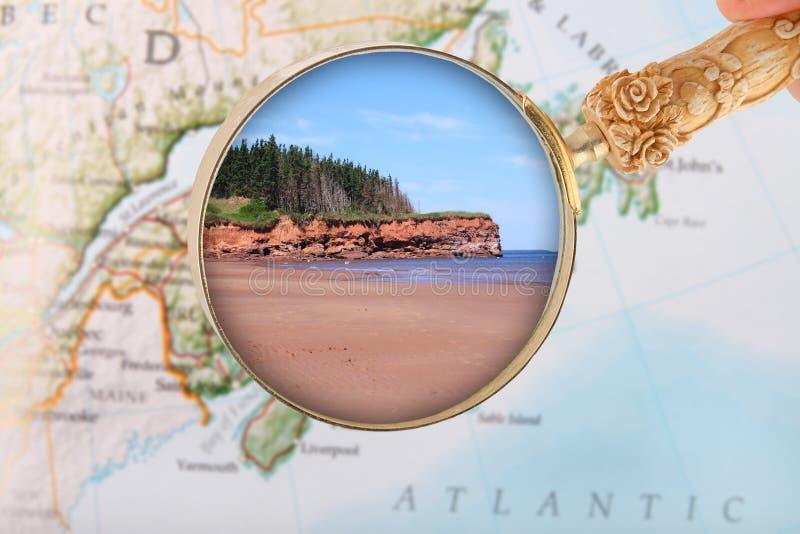 PEI, spiaggia di sabbia di rosso del Canada fotografie stock