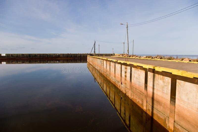 PEI wharf stock photo