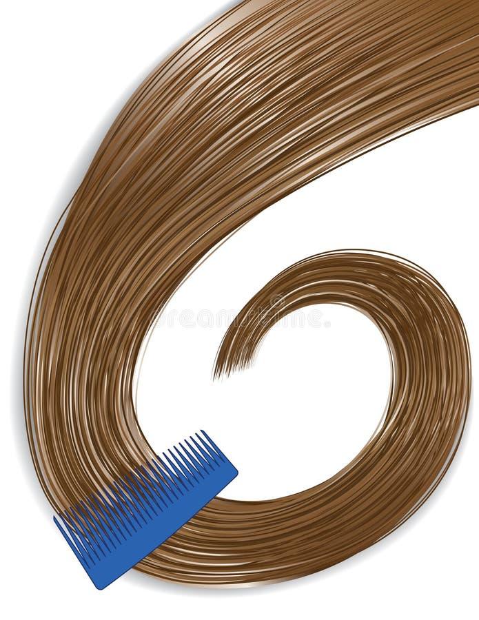 Peignée du cheveu illustration stock