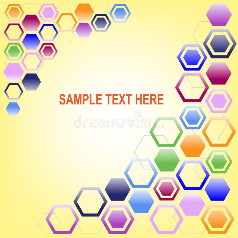 Peigne coloré de miel images libres de droits