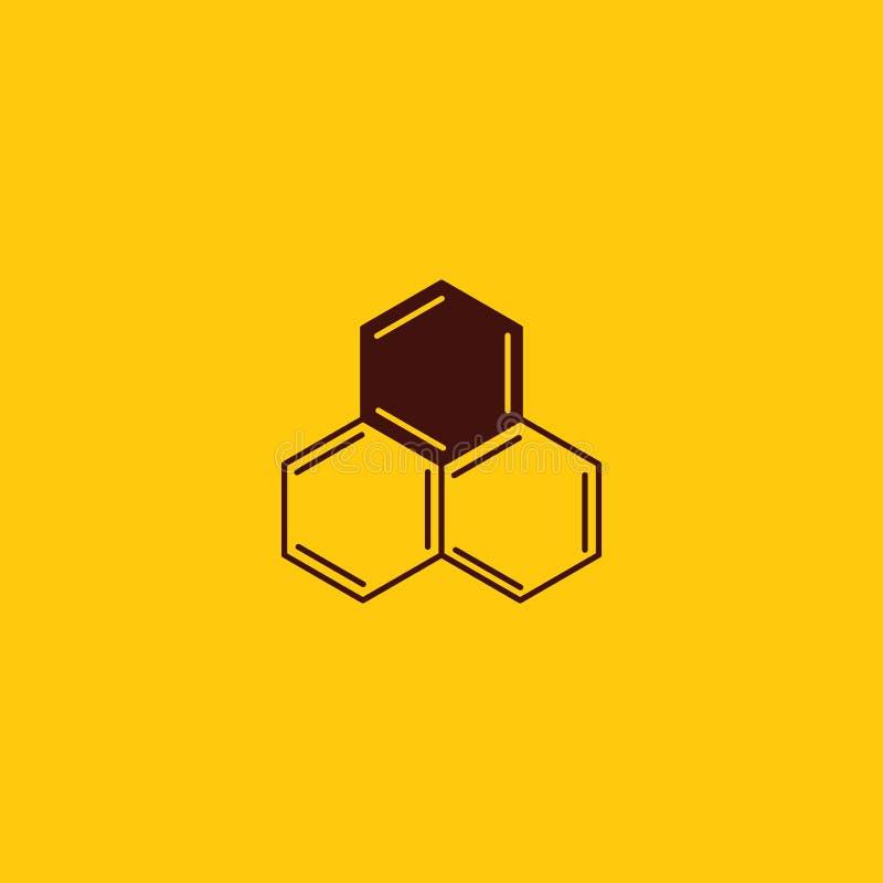 Peigne de miel de vecteur et conception de logo de l'apiculture Logotype de cire d'abeilles illustration libre de droits