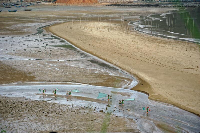 Peigne de plage - paysage de Xiapu photographie stock libre de droits