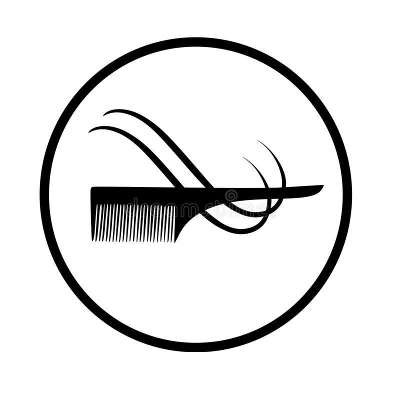 peigne et cheveux de vecteur illustration stock