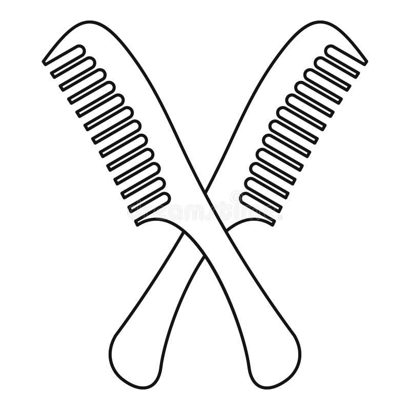 Peigne l'icône, style d'ensemble illustration de vecteur